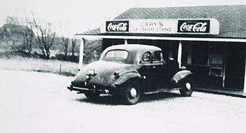 The original Gray's Ice Cream Parlor , circa 1930.